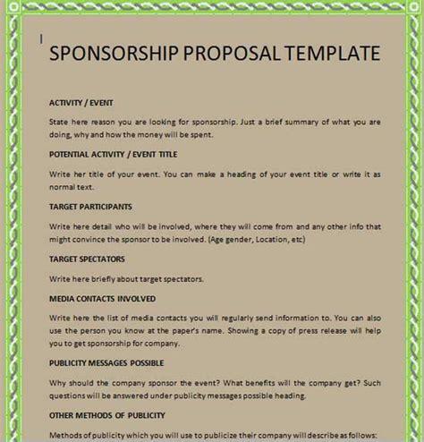 sponsorship proposal template playbestonlinegames