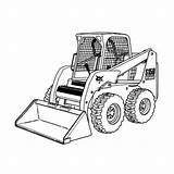 Coloring Bobcat Plow Pages Snow Truck Clipart Equipment Skid Loader Printable Skidsteer Trucks Monster Steer Construction Drawing Clip Tractor Sketch sketch template