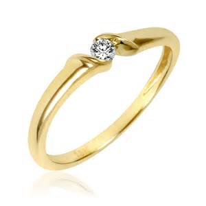 bezel engagement ring gold promise rings for wedding promise