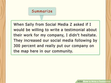 How To Write A Testimonial 11 Steps (with Pictures) Wikihow