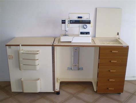 sewing cabinets with lift horn sewing machine cabinet c w hydraulic lift ebay