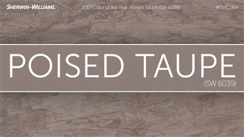 sherwin williams poised taupe color   year
