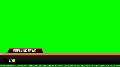 banner news template breaking news banner green screen download youtube