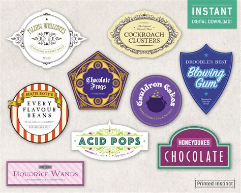 Harry Potter Party Printable Candy Labels