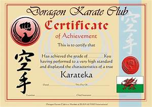 products With karate certificates templates free