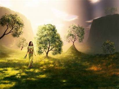 Place Secret Wallpapers Fantasy Landscapes Magical Shining