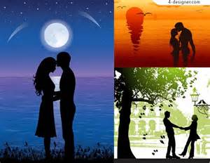 Painting for Romantic Couple Silhouette