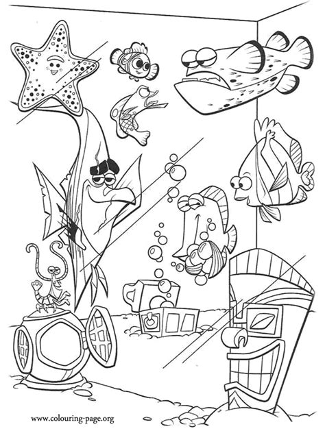 finding nemo  tank gang coloring page