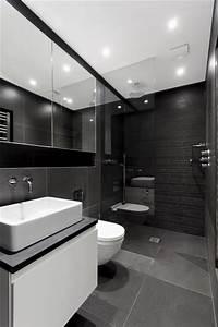 Salle De Bain Noire Et Blanche : 101 photos de salle de bains moderne qui vous inspireront ~ Melissatoandfro.com Idées de Décoration