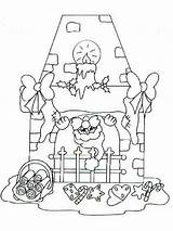 Coloring Pages Christmas Chimneys Printable Bright Choose Colors Favorite sketch template