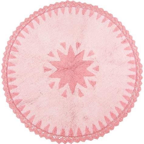 tapis rond chambre fille tapis warren rond avec dentelles en coton pour