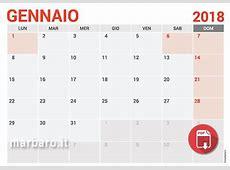Calendari 2018 da stampare con le festività italiane