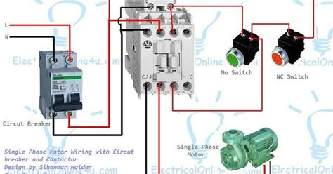 single phase motor wiring with contactor diagram woodworking in 2019 electrical wiring