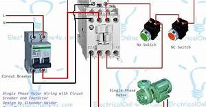 Single Phase Motor Wiring With Contactor Diagram In 2020