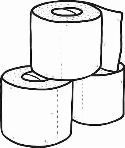 Roll Paper Tissue Toilet Clipart Vector Drawing