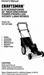 Craftsman 917377390 User Manual Rotary Mower Manuals And