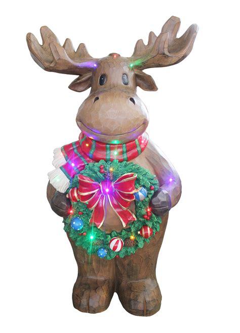 moose statue moose christmas statues christmas