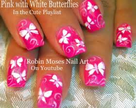 Butterfly nail art for beginners : Robin moses nail art butterfly nails quot spring