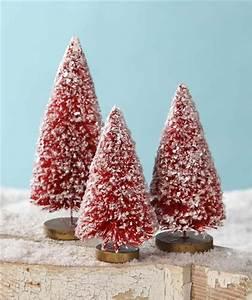 Red Bottle Brush Trees Christmas Bottle Brush Trees