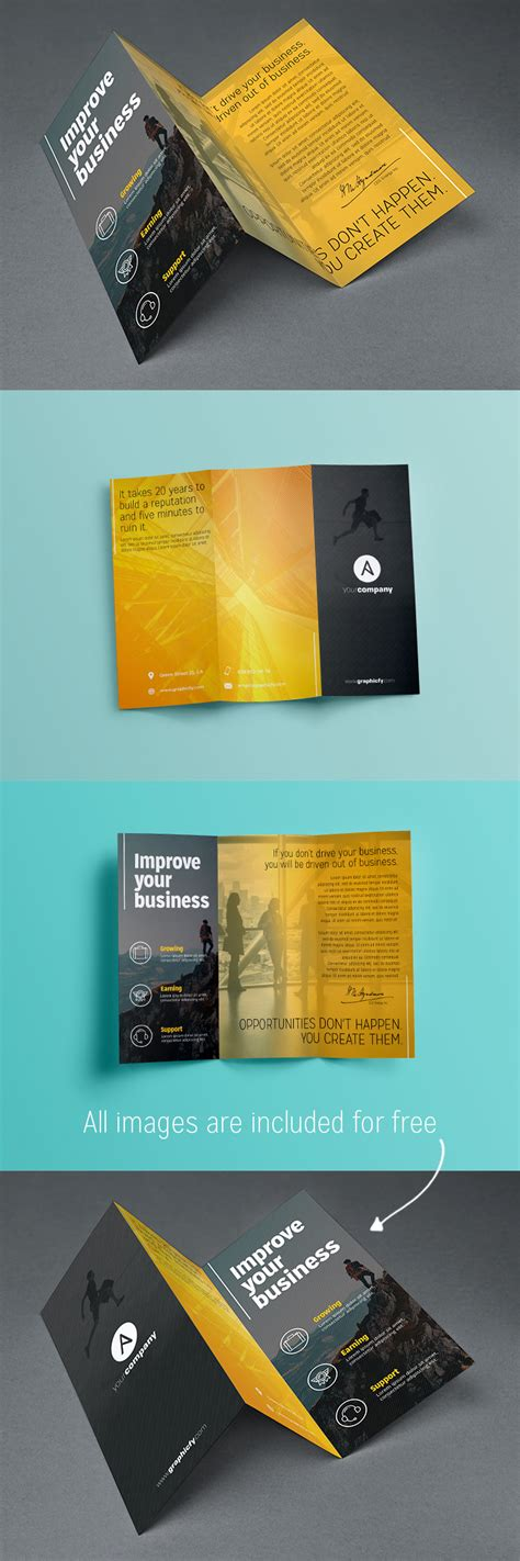 Tri Fold Brochures Templates by Tri Fold Brochure Template Psd Brochure Templates