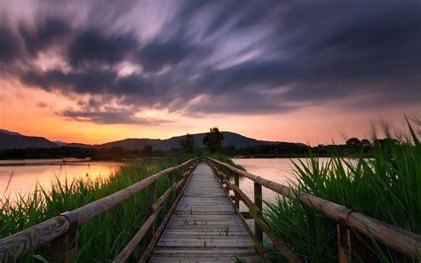 imagen gratis silhouette sky muelle montana