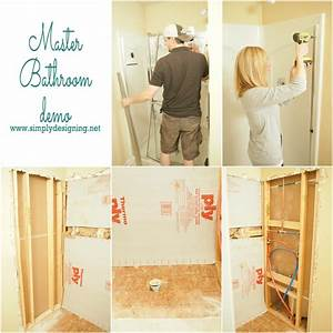 Master bathroom remodel part 2 demo for How to demo a bathroom