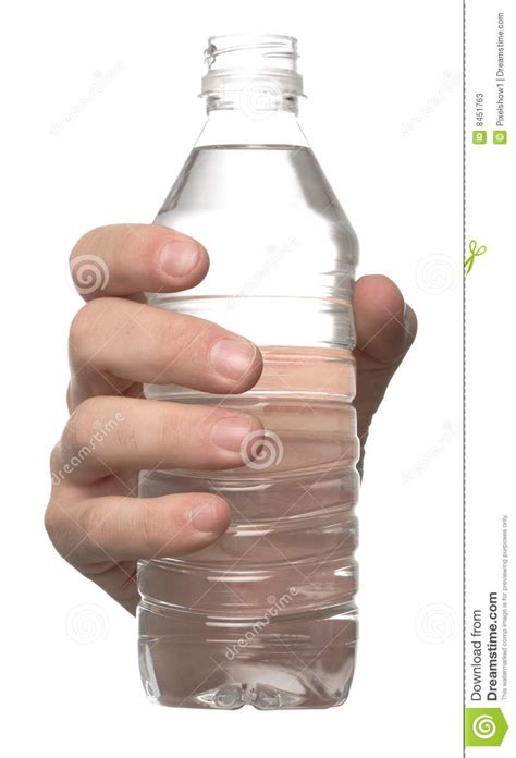 bottle water hand stock  image
