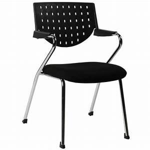Chaise En Tissu : chaise de bureau design bermudes en tissu noir ~ Teatrodelosmanantiales.com Idées de Décoration