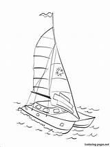 Catamaran Coloring Pages Transport Means Various Parents Fans Children sketch template