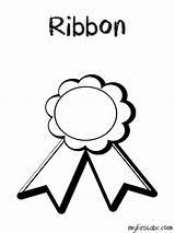 Ribbon Coloring Award Place Drawing Printable Getdrawings Getcolorings sketch template