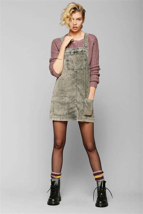 Lyst - Urban Outfitters Bdg Washed Corduroy Overall Skirt ...