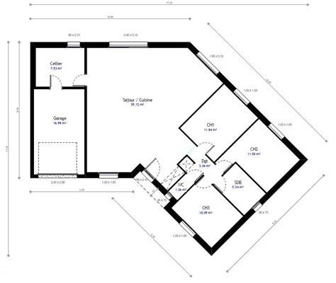 chambre habitat plan maison individuelle 3 chambres 48 habitat concept