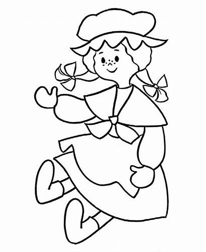 Doll Coloring Pages Printable Pre Rag Colouring