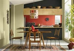 murs cuisine couleur With peinture mur cuisine tendance