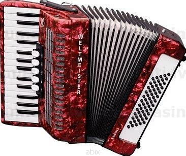 Weltmeister Kristall 30/60/III/5 Red akordeons ...