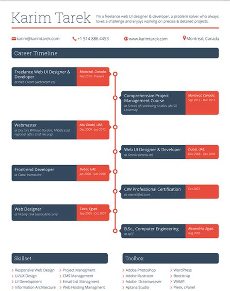 Resume Timeline Format by Resume Templates That You Can For Free