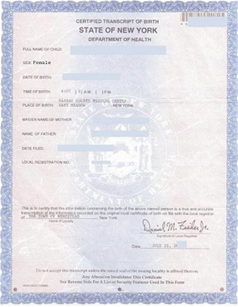 new york state birth certificate form new york apostille for birth certificate