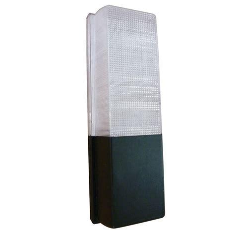 aspects 13 watt black outdoor fluorescent wall pack light