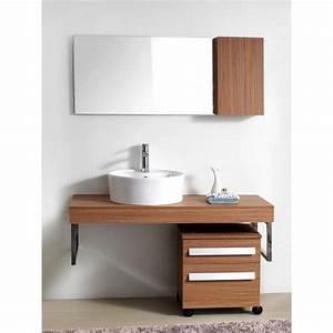 Meuble de salle de bain design couleur bois achat for Meuble salle de bain bois design