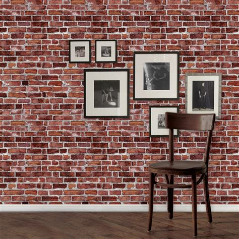 simpleshapes peel  stick    brick tile wallpaper