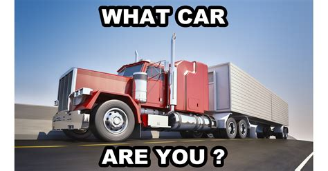 What Car Are You? Question 27