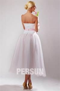 Robe Mi Longue Mariage : robe mi longue rose p le bustier c ur pour cort ge mariage ~ Melissatoandfro.com Idées de Décoration