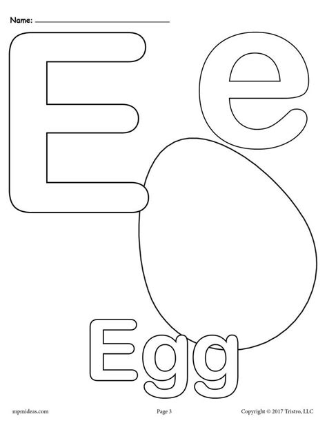 Coloring Letter E by Letter E Alphabet Coloring Pages 3 Free Printable