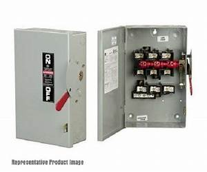 Ge Tgn3323 100a 240v 3p General Duty Indoor Non