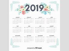 Calendário de 2019 Baixar vetores grátis