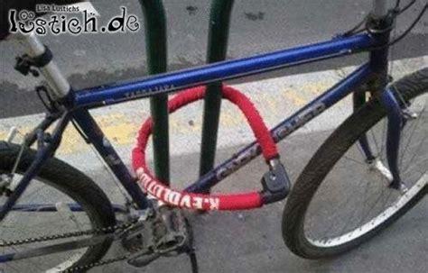 fahrrad sicher anschliessen bild lustichde
