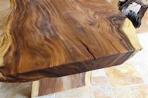 Massivholztisch Baumstamm Mit Wildkante Der Tischonkel