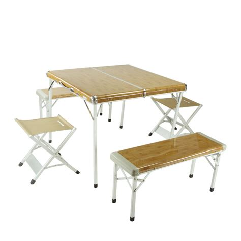 handy aluminum folding table and chair for picnic cing