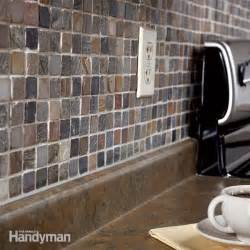 how to do a backsplash in kitchen how to tile a backsplash the family handyman