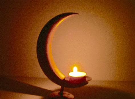 moon candle holder crescent moon copper candle holder